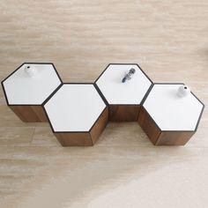 Honeycomb Table, White | ACHICA