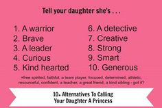 Alternatives to calling your daughter a princess