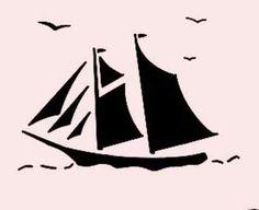 "Sailboat Stencil Bird Stencil Ocean Sea Flexible Template Craft New 7"" x 5"" | eBay"