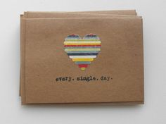 LOVE every single day handmade cards hand by ThePaperPeddler  15