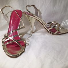 "Gold Kate Spade Strappy Sandals What will you wear these gold heels with? Everything!  Heel measures approx 4"". Unworn with original box and dust bag. Sorry no trades or PayPal. Thanks for shopping by! kate spade Shoes Heels"