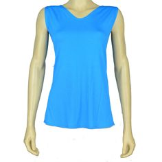 Alyssum Tank Top - Super soft tank has side slits at each side seam and can be worn back to front by AVENIR DESIGNS