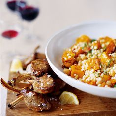 A great vegetarian dish with couscous and butternut squash and chickpeas that will be loved by all