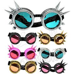 Cyber goggles #welding vintage victorian #steampunk goth antique #cosplay + uv le,  View more on the LINK: http://www.zeppy.io/product/gb/2/131405249878/