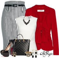 Striped Pencil Skirt Contest