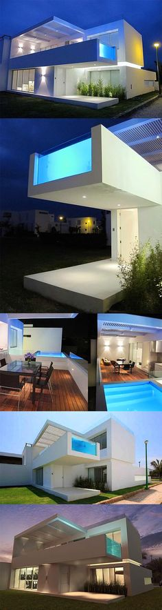 Best Ideas For Modern House Design & Architecture : – Picture : – Description This Modern Beach House Has A Cantilevered Pool That Extends Over The Front Entrance. Beautiful Architecture, Contemporary Architecture, Residential Architecture, Interior Architecture, Futuristic Architecture, Modern House Design, Exterior Design, Future House, Beautiful Homes