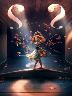 Cyril Rolando - Aquasixio's Official Shop featured by Curioos : Numbered & Signed Art Prints, Canvas, Metal Prints, Exclusive T-shirts. Girly Art, Violin Art, Fantasy Art, Amazing Art, Art Girl, Art, Art Wallpaper, Beautiful Art, Cartoon Art