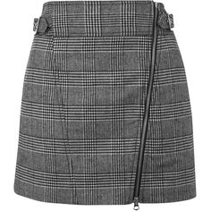 TOPSHOP Checked Biker Mini Skirt ($70) ❤ liked on Polyvore featuring skirts, mini skirts, monochrome, checkerboard skirt, topshop, bike skirt, mini skirt and short mini skirts