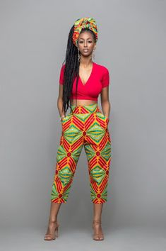 Marie african print pants kitenge look af African Fashion Designers, African Inspired Fashion, African Print Fashion, Africa Fashion, African Dresses For Women, African Fashion Dresses, African Attire, African Wear, African Style