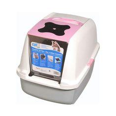 CATIT Katzentoilette mit Klappbarer Abdeckung - Rosa
