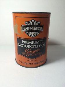 Vintage Harley Davidson 1qt Premium ll Motorcycle Motor Oil Cardboard Can Full   eBay