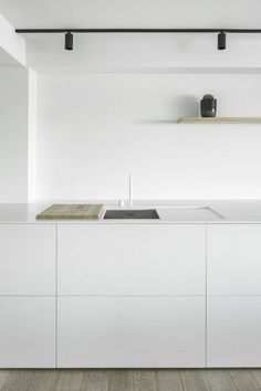 Minimal white kitchen