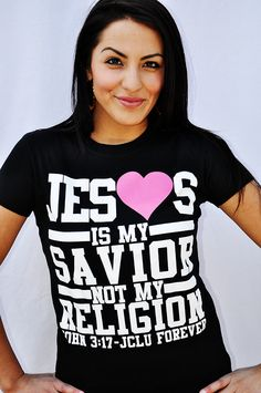 $17.99 JESUS IS MY SAVIOR Christian T-Shirt by JCLU Forever Christian t-shirts