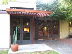 mid century modern french doors