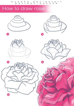 "drawingden: "" How to Draw Rose by wysoka Support the artist on Patreon! """