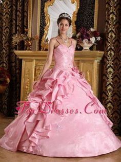 Quinceanera Dress with Straps