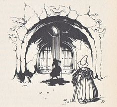 Anton Pieck uit: Grimm, Vrouw Holle.
