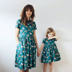 Mommy & Me Dresses Duck Print Dresses Matching Mother by OffOn
