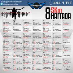 Koşmakta zorlanıyormusunuz? Nefesiniz mi yetmiyor? Bu program tam size göre. 8 Haftada 5Km koşabildiğinize inanamayacaksınız!  #fitness #running #health