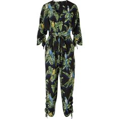 Stella McCartney Printed silk crepe de chine jumpsuit ($1,625) ❤ liked on Polyvore featuring jumpsuits, green, stella mccartney, multi color jumpsuit, green jumpsuit, print jumpsuit and patterned jumpsuit