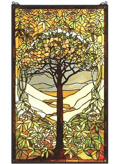 Tiffany Tree of Life Stained Glass Window for sale by Art & Home. For over 10 years, our family business has been proud to provide your family with a stunning collection of unique and wonderful home decor products.