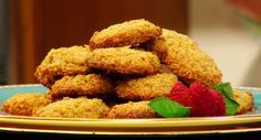 """This is a FABULOUS recipe for Passover - or anytime at all :) Thanks to Laura Theordore, the Jazzy Vegetarian, for sharing this easy vegan recipe with us! Laura says, """"Flaxseeds stand in for the egg whites in this recipe, while garbanzo flour helps to bind them. The result is a flawless macaroon that is…"""