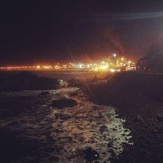 Playa por la noche  #constitución #mar #playa #noche