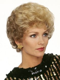 Dream Wig Collection, Debbie Wig by Louis Ferre is a synthetic short curly layers style with volume and swept bangs. Roller Set Hairstyles, Permed Hairstyles, Retro Hairstyles, Short Permed Hair, Short Hair Cuts, Drag Wigs, 1960s Hair, Short Hair Trends, Grey Wig