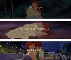Anastasia, I know it's not Disney. But it's one of my favorite movies. So I like to think it disney.