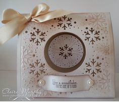 Crafters Companion Create a Card Die Softly Falling Centura pearl hint of silver Die'sire scalloped tags