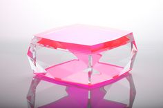 AVF Acrylic Limited Edition Asscher Box Pink--ONLY 1 LEFT!!!