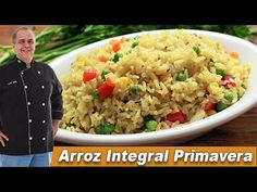 Arroz Integral Primavera - Chef Taico - YouTube Chef Taico, Fried Rice, Make It Yourself, Ethnic Recipes, Link, Food, Youtube, Risotto, Savory Snacks