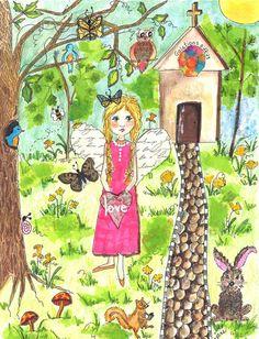 Art Print Original drawing print Original art by JaneLazenbyartist, $24.00
