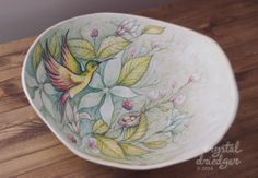 © crystal driedger. a pregnancy casting turned into a bowl and painted.