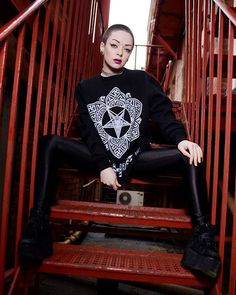 """Baphomet Lotus"" Sweatshirt - currently on SALE at www.crmc-clothing.co.uk | WE SHIP WORLDWIDE Model - @Izabellajaxxofficial  Photography by @darklensstudio #tattooedwomen #girlswithshavedheads #hot #alternative #alternativeteen #altgirl #alternativegirl #occult #baphomet #pentagram #fashionstatement #altfashion #instafashion #fashiongram #fashionista #fashionoftheday #selfie #stylegram #stylefashion #igers #love #beautiful #fashion #instagood #instastyle #instalike #instadaily #instalove"