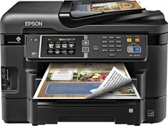 Epson - WorkForce WF-3640 Wireless All-In-One Printer - Black, WORKFORCE 3640 ALL-IN-ONEC11CD