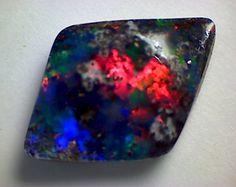 5.65ct Fabulous Black Boulder Opal Stunning Colours CG01