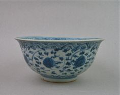 A MING DYNASTY 16TH CENTURY HONGZHI PERIOD B/W BOWL. FOUND AT MOLUCCAS ISLAND INDONESIA.