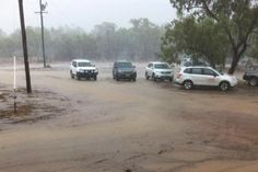 Following a long spell of heatwaves finally the rains fall in Bourke, New South Wales  Taken by Nick Haggerty (ABC News)  16/02/2014