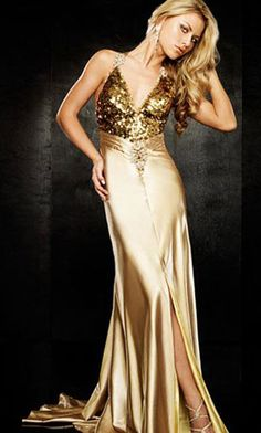 Old Gold Prom Dresses