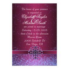 Luxury Cool Christmas Snowflake Wedding Invite