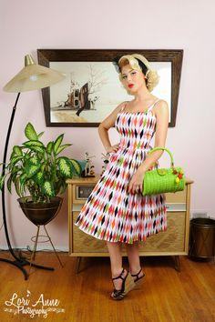 Jenny dress harlequin print