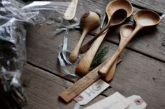 sweet wooden spoons
