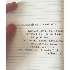 What a confident woman is.