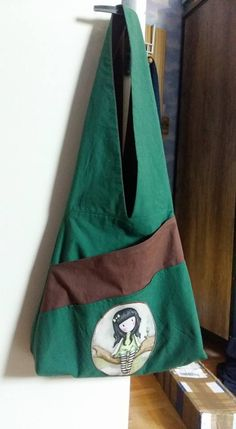 Sac réversible Cloé cousu par Gridou - tissu Gorjuss Bag Making, Reusable Tote Bags, Sewing, Fabric