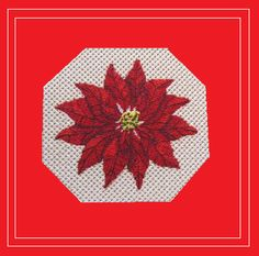 A simple and beautiful Poinsettia design done on canvas.  Check out more at needlenook.com