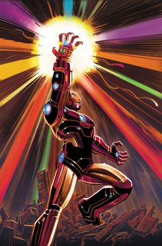 Avengers 12 / Ironman Wields Infinity Gauntlet Cover / Marvel Comics 2011 / Selling Now! Marvel Comics, Marvel Vs, Marvel Heroes, Captain Marvel, Stan Lee, Comic Book Heroes, Comic Books Art, Marvel Universe, Spiderman