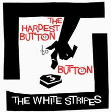 "The White Stripes, ""The Hardest Button to Button,"" 2003 The White Stripes, Meg White, Jack White, Saul Bass, Rock Songs, Alternative Movie Posters, White Strips, Vinyl Cover, Film Posters"