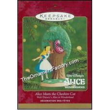 2000 Alice Meets the Cheshire Cat, Disney | Hallmark Keepsake Ornaments | The Ornament Factory