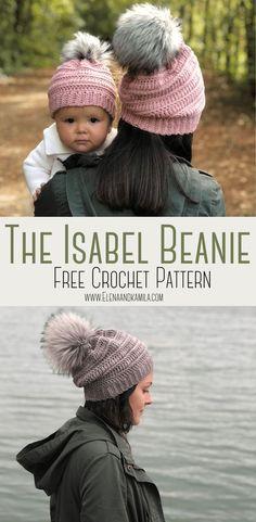 Crochet Adult Hat, Bonnet Crochet, Crochet Beanie Pattern, Baby Blanket Crochet, Hand Crochet, Free Crochet, Knit Crochet, Beginner Crochet, Chunky Crochet